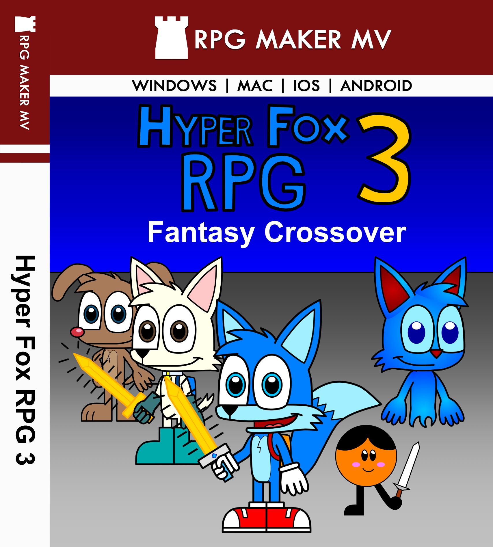Hyper Fox RPG 3: Fantasy Crossover Game Case Art — Weasyl