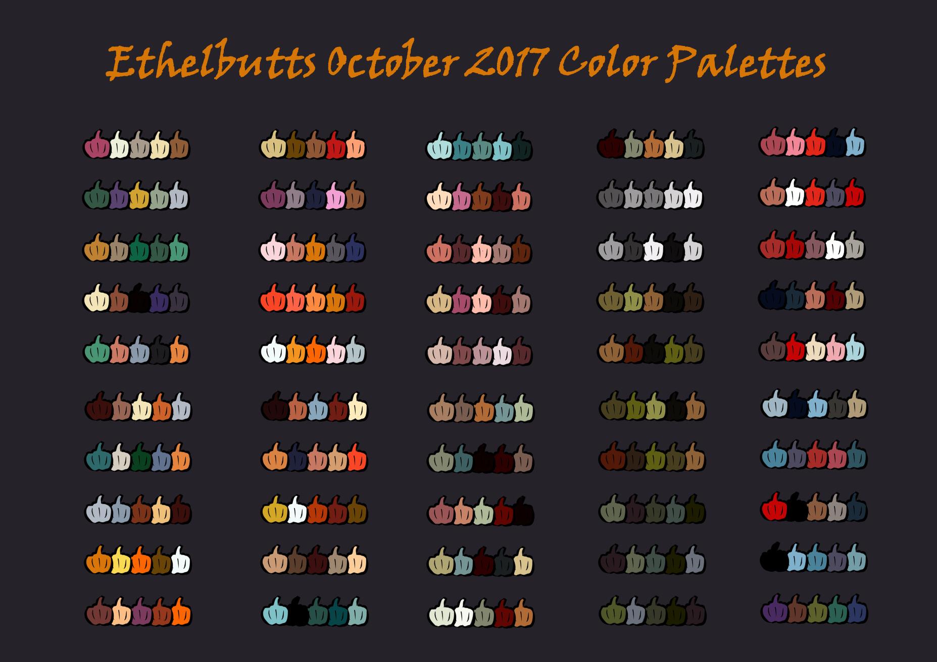 Halloween Color Palettes 2017 Weasyl