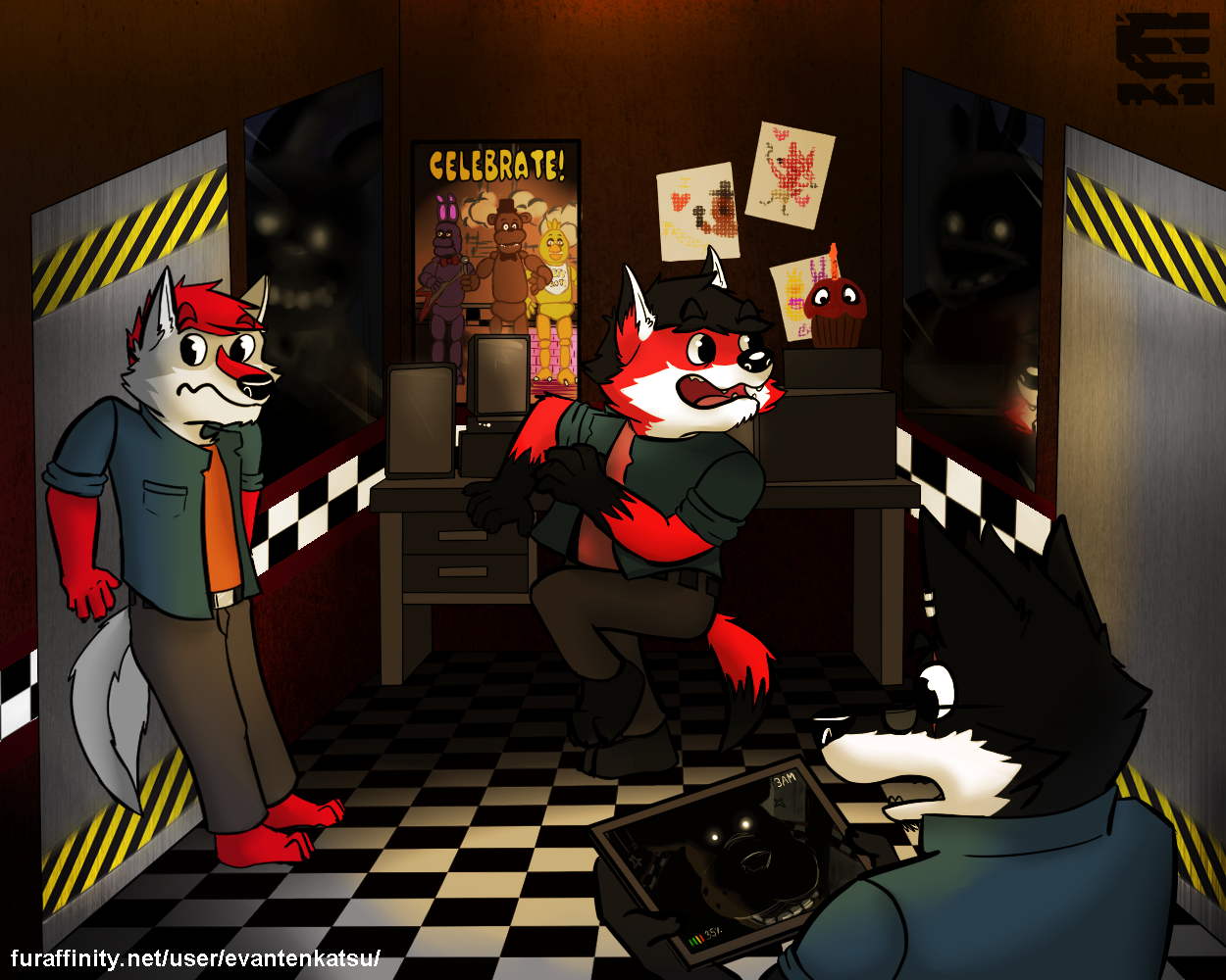 A Calmed Night At Freddy S Fazbear Pizza Weasyl