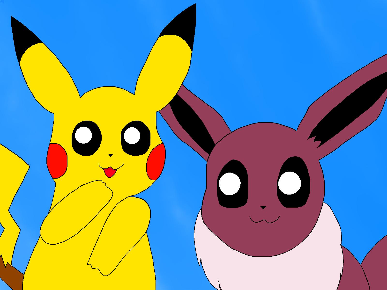 Pikachu And Eevee Weasyl
