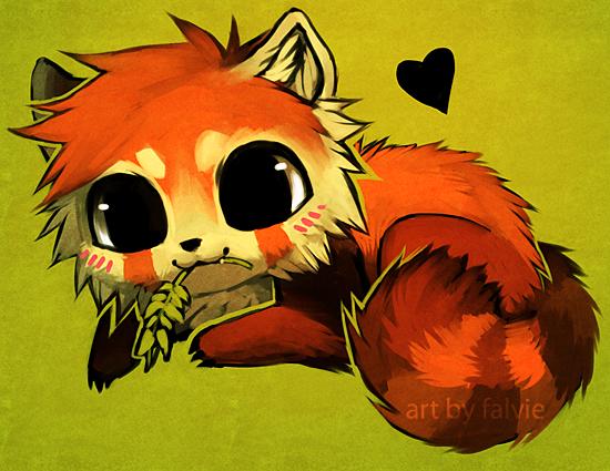 Cute Chibi Red Panda And Panda