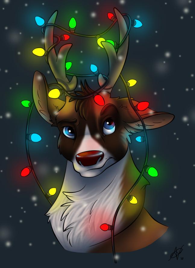 rudolph the rednosed reindeer lineartveyz — weasyl