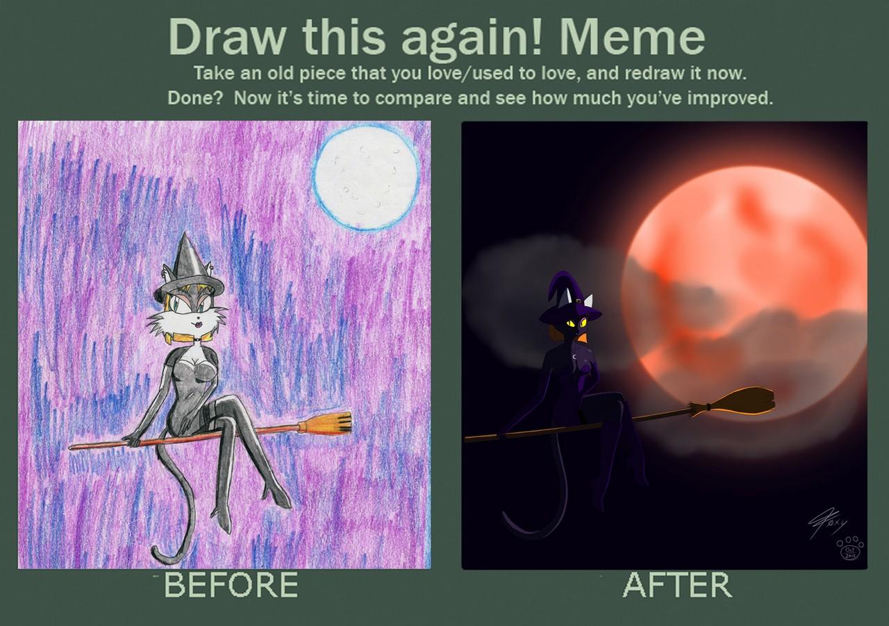 Draw This Again Meme Halloween Night Weasyl