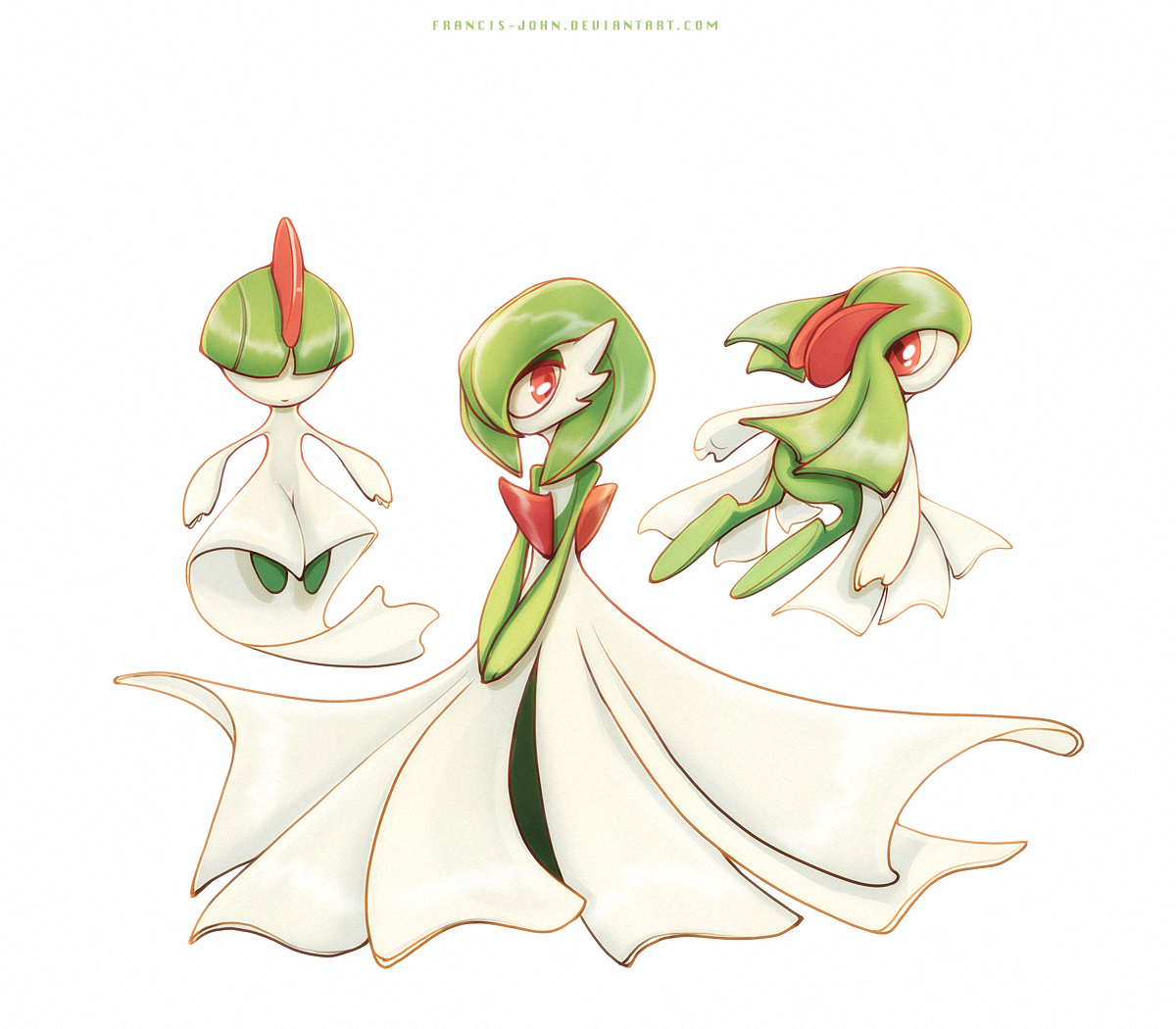 Ralts, Kirlia and Gardevoir — Weasyl