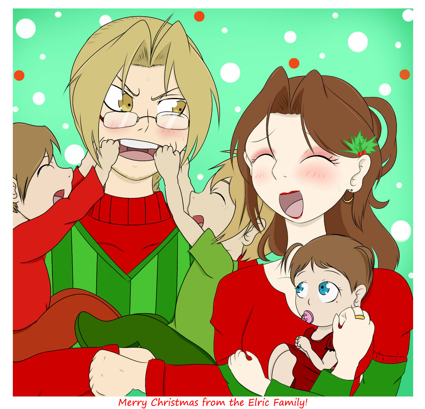 Merry Christmas 2014 from the Elric Family — Weasyl