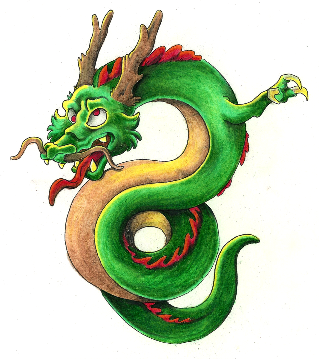 Dragon Tattoo [color] — Weasyl
