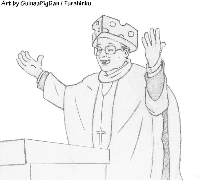 Archbishop Cheesehead — Weasyl