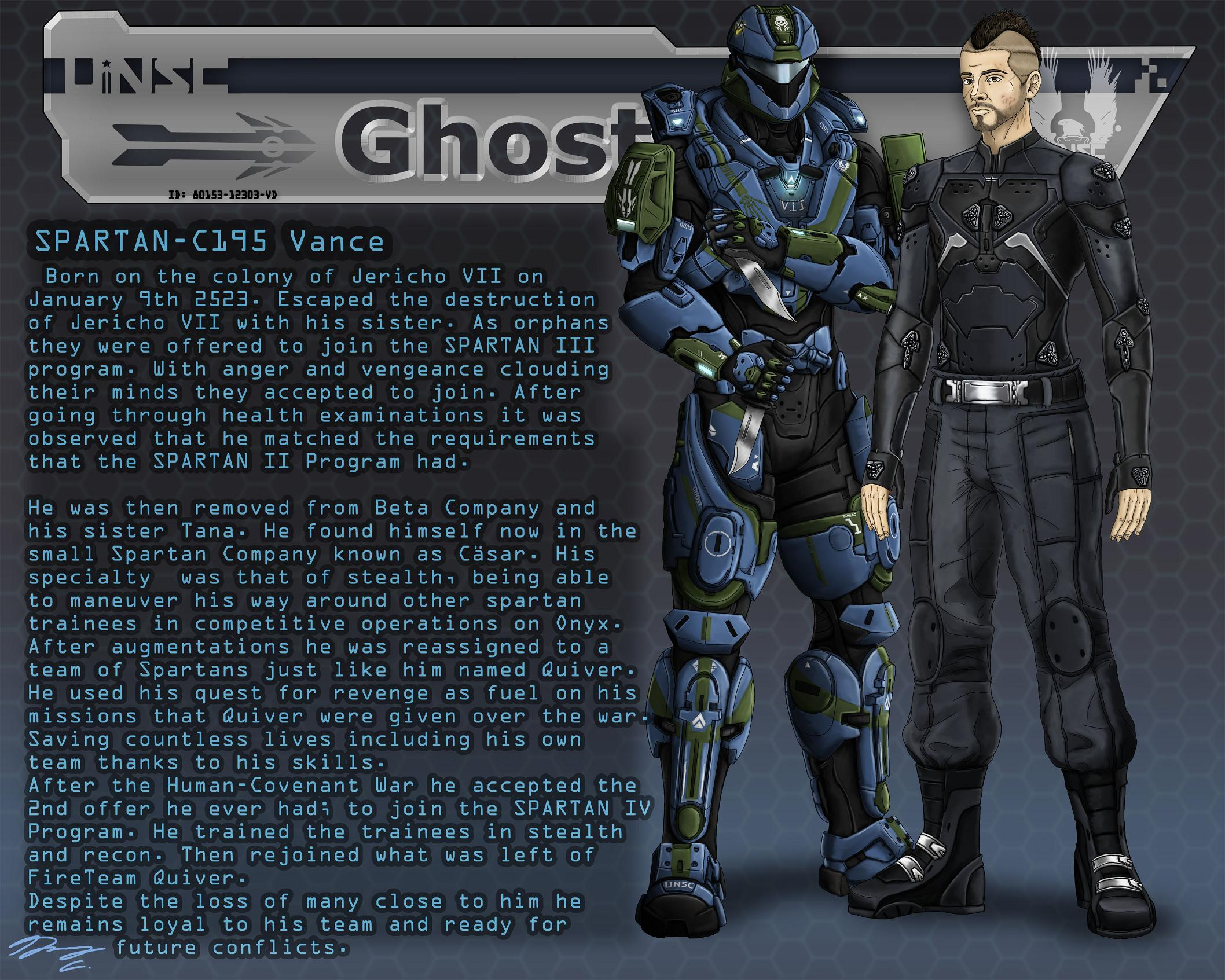 Halo- FireTeam QUIVER Data File: Quiver Ghost — Weasyl