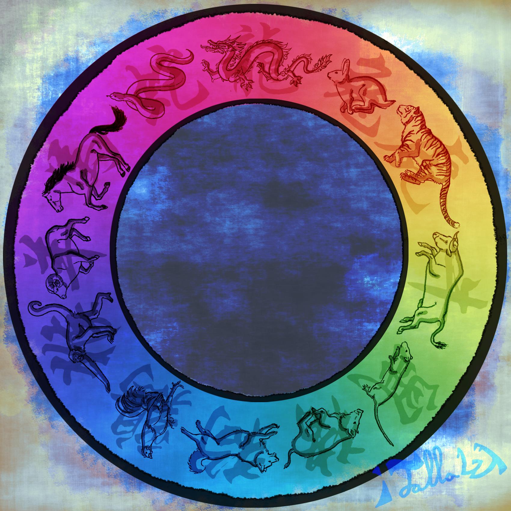 Zodiac Color Wheel Weasyl