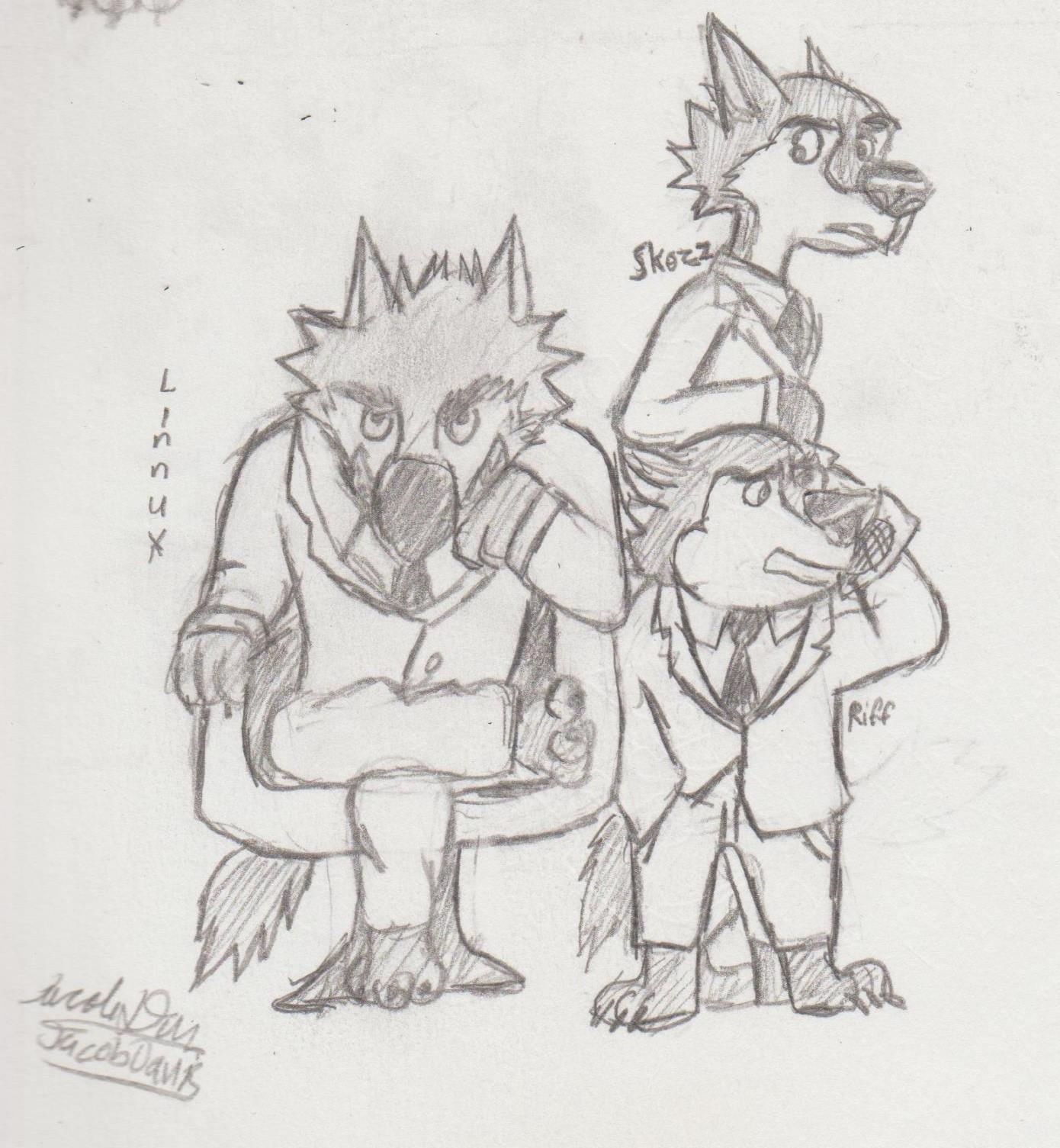 Linnux, Skozz and Trey — Weasyl