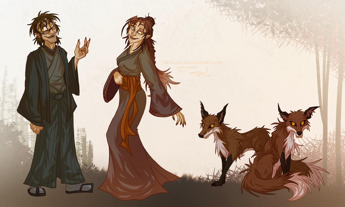 Kitsune siblings - Character sheet — Weasyl