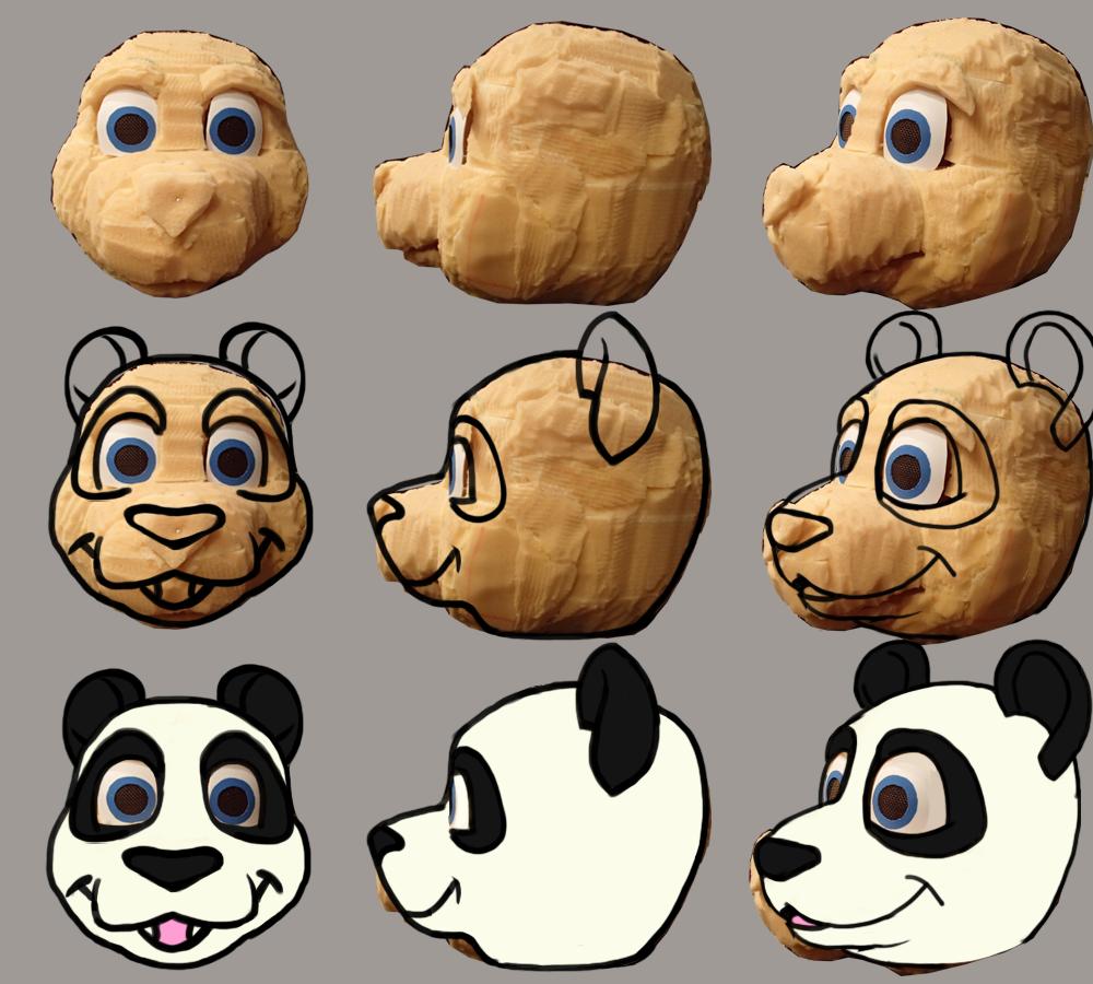 Fursuit Panda panda fursuit head design — weasyl