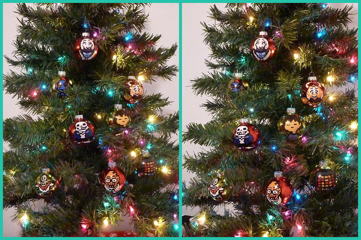 Undertale Christmas.Undertale Christmas Bulbs Weasyl