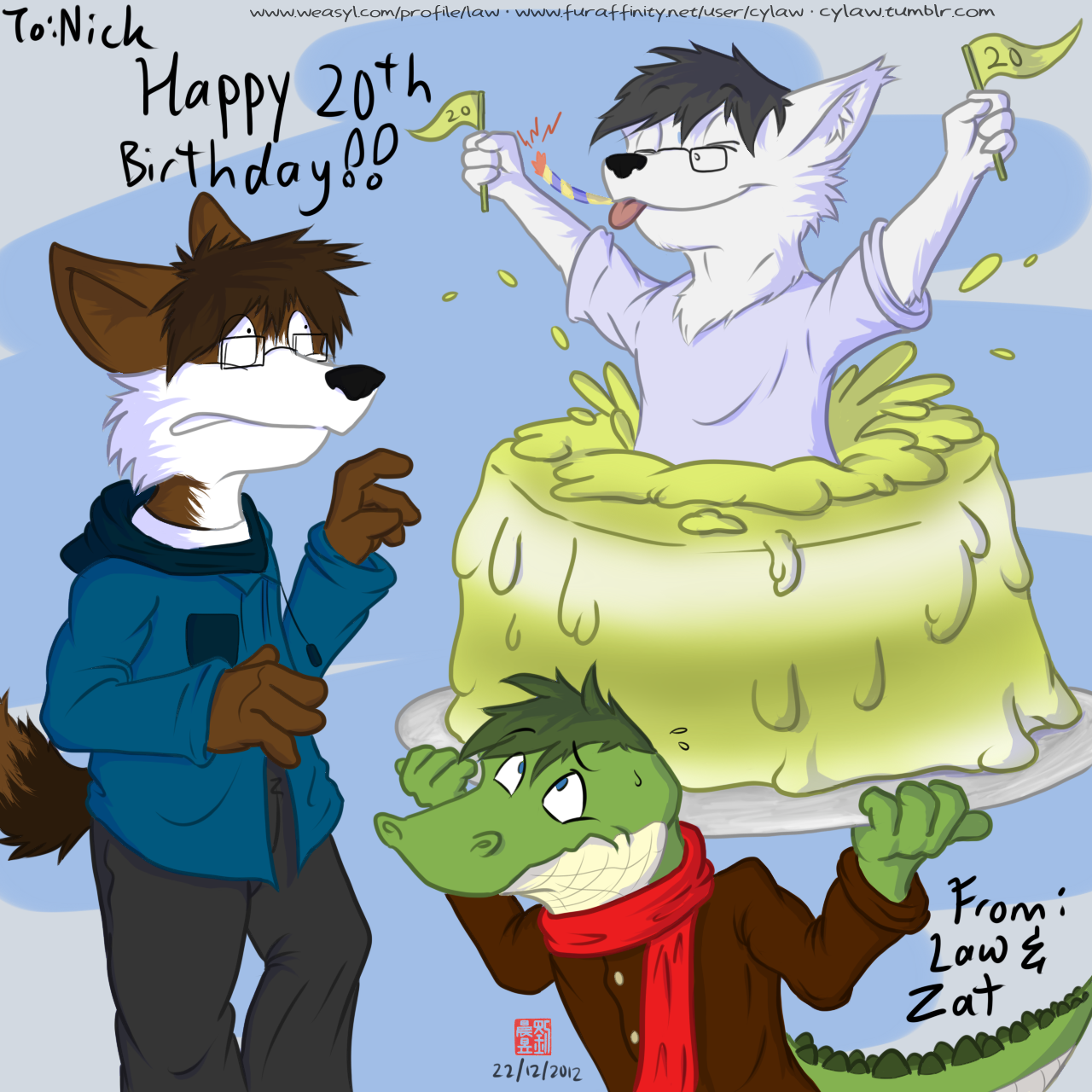 Nick S Bday Gift Drawing Weasyl