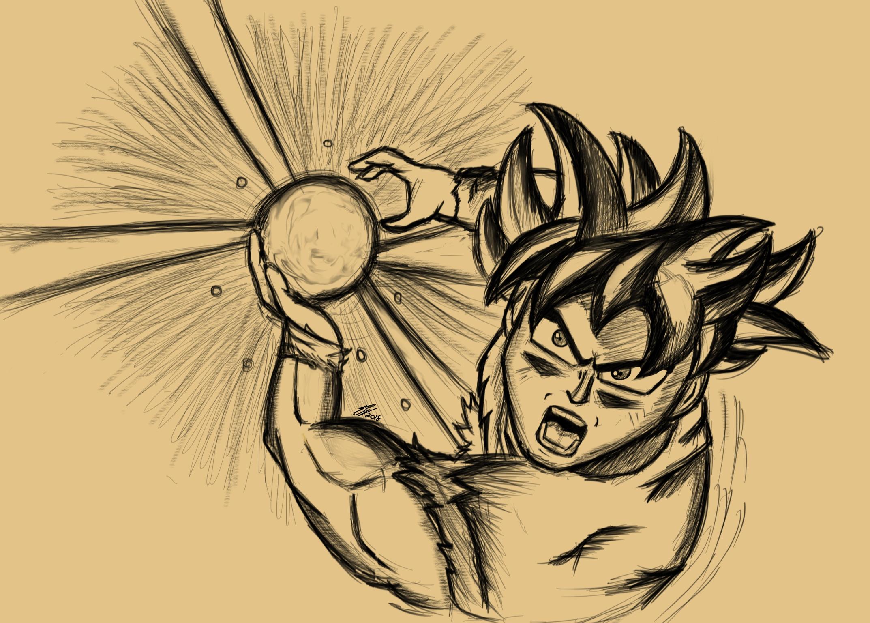 Ultra instinct goku sketch weasyl - Goku ultra instinct sketch ...