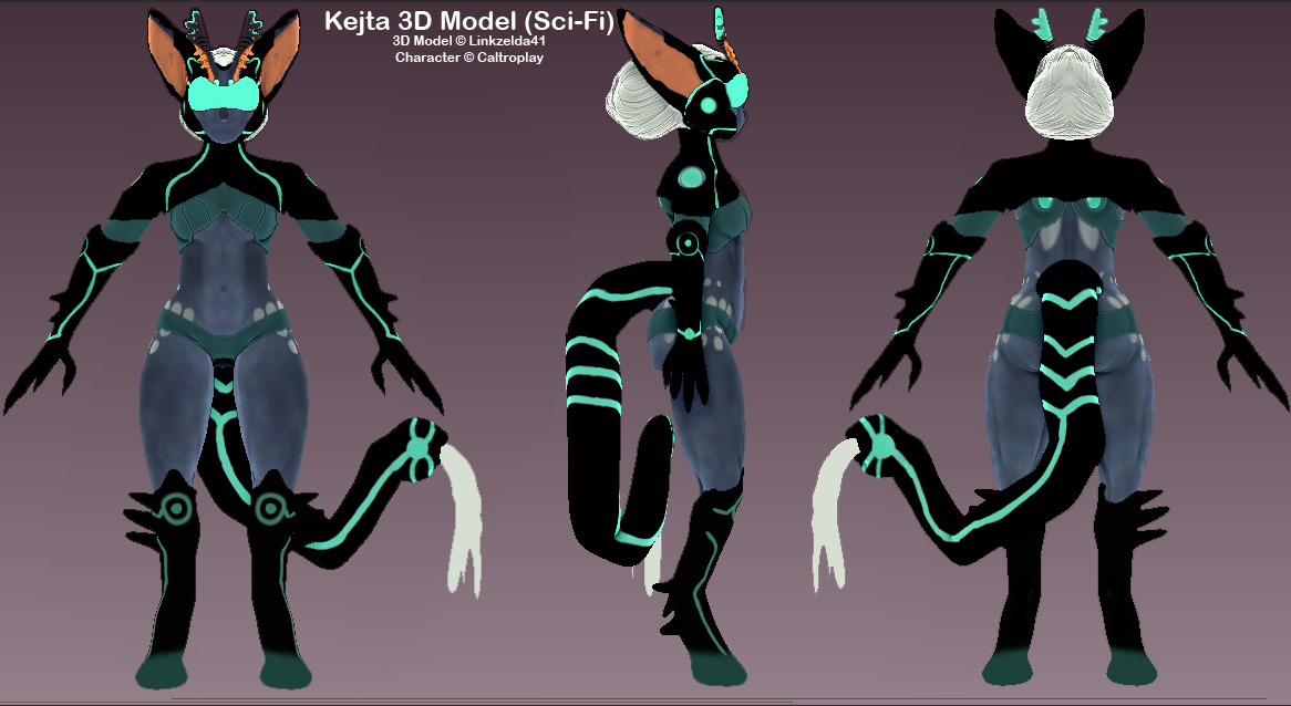 Kejta 3d Model Reference Sheet Sci Fi Weasyl