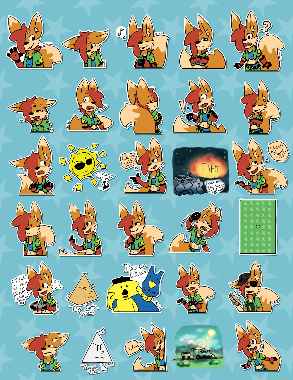 Lumi Telegram Stickers Weasyl