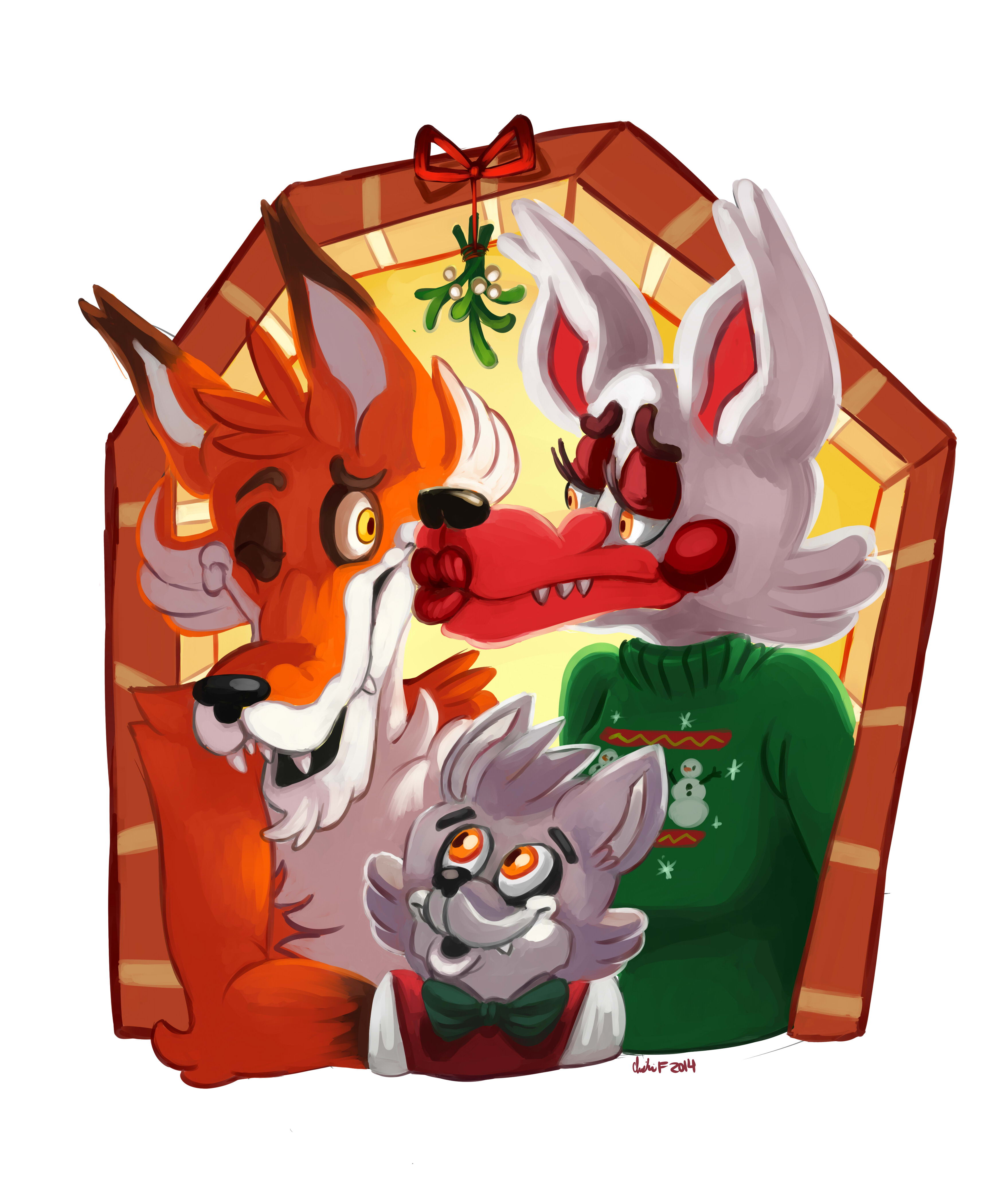 A Five Night's At Freddy's Christmas - Foxy and Mangle! — Weasyl