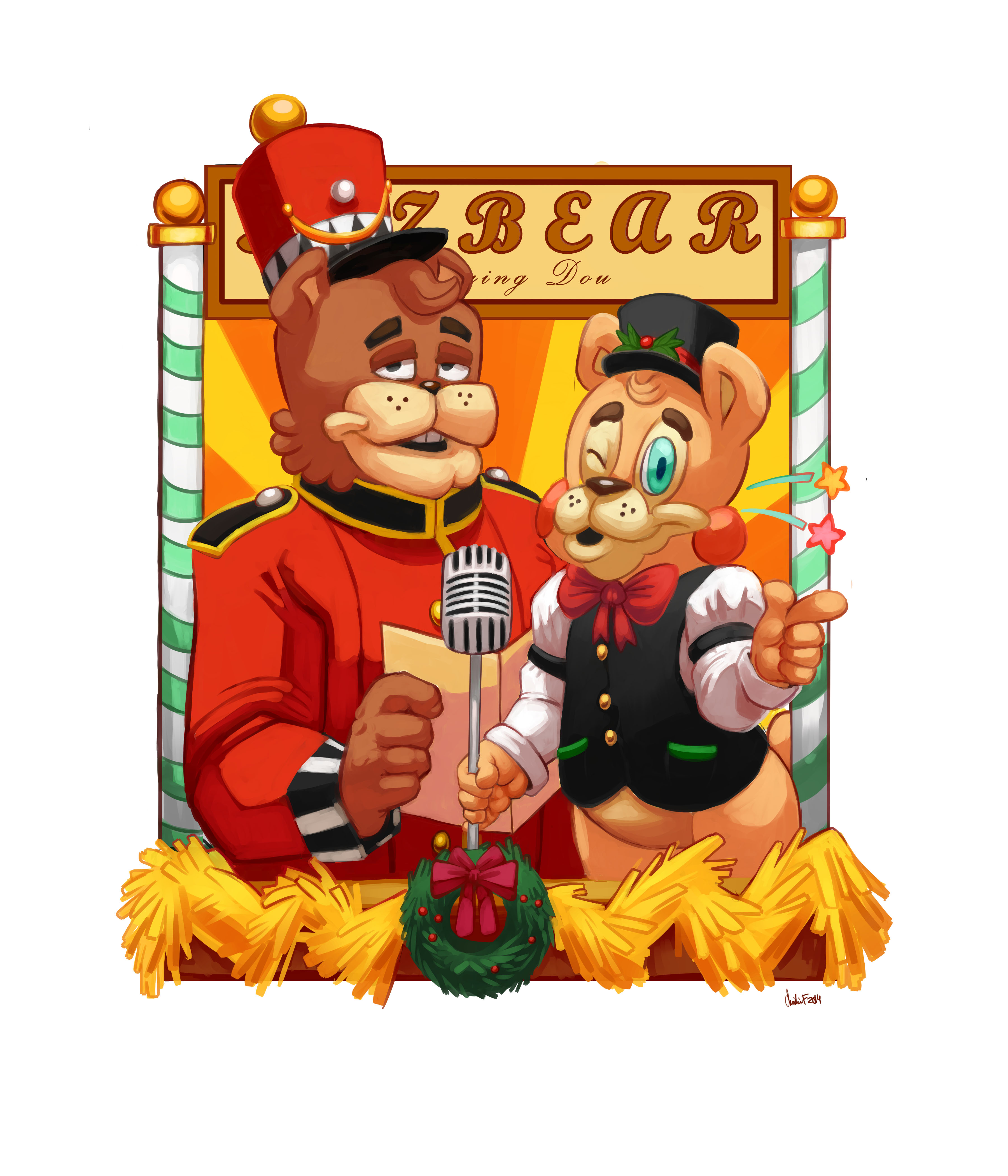 A Five Night's At Freddy's Christmas - Freddy and Toy Freddy! — Weasyl