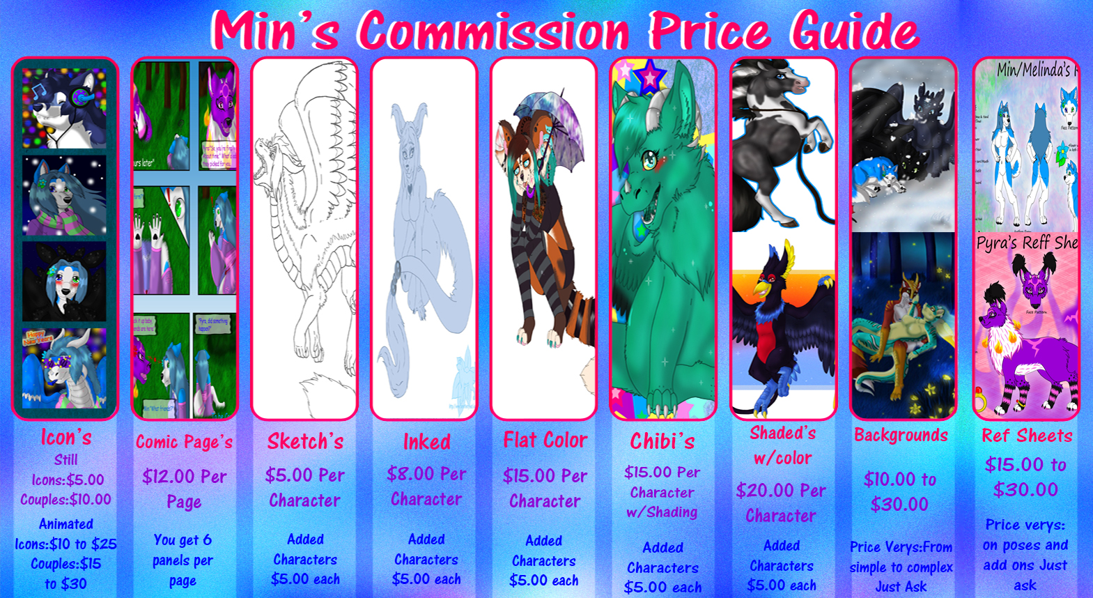 Min\'s Commission Price Guide (2015) — Weasyl