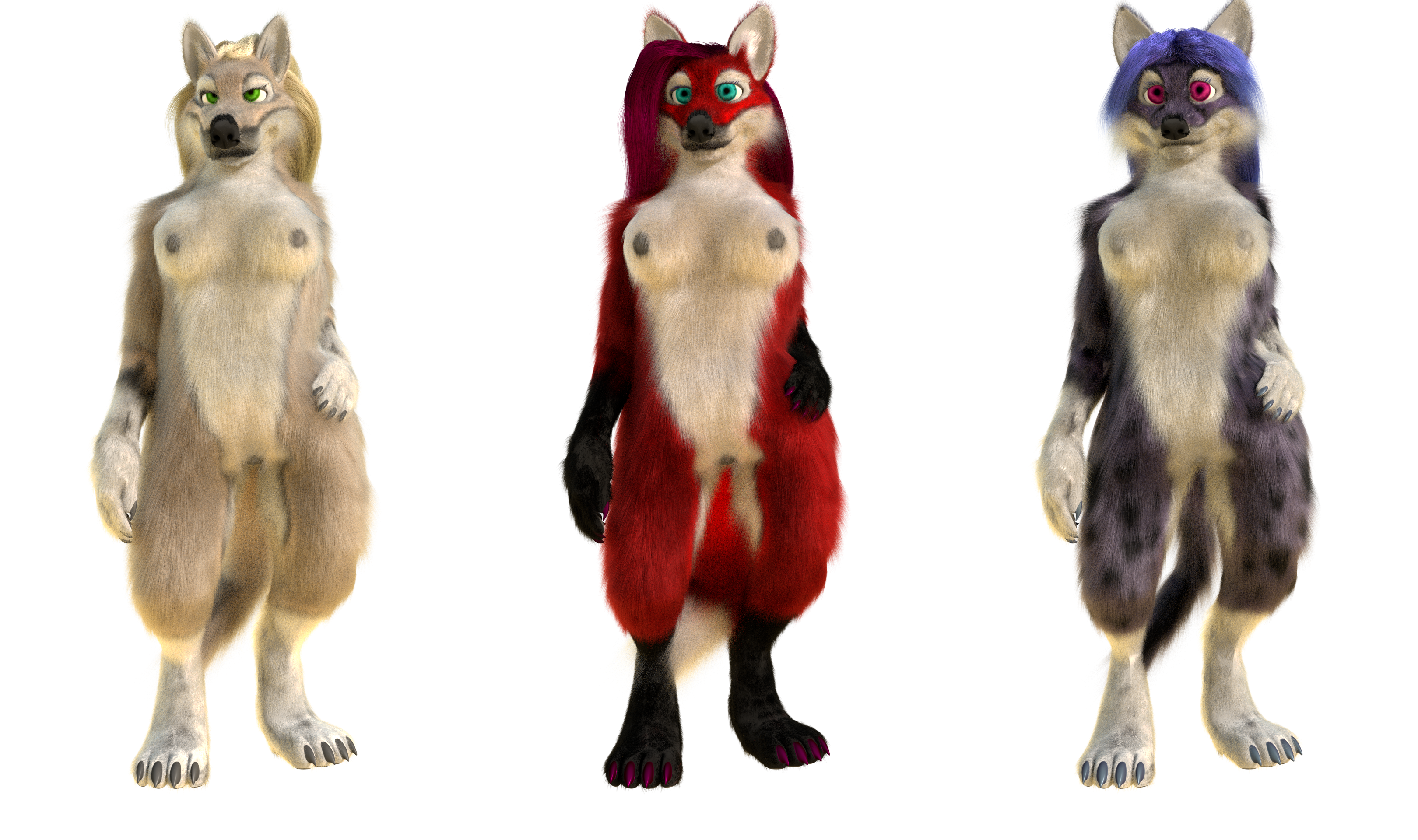 Blender model - Anthro wolf, fox, cat — Weasyl