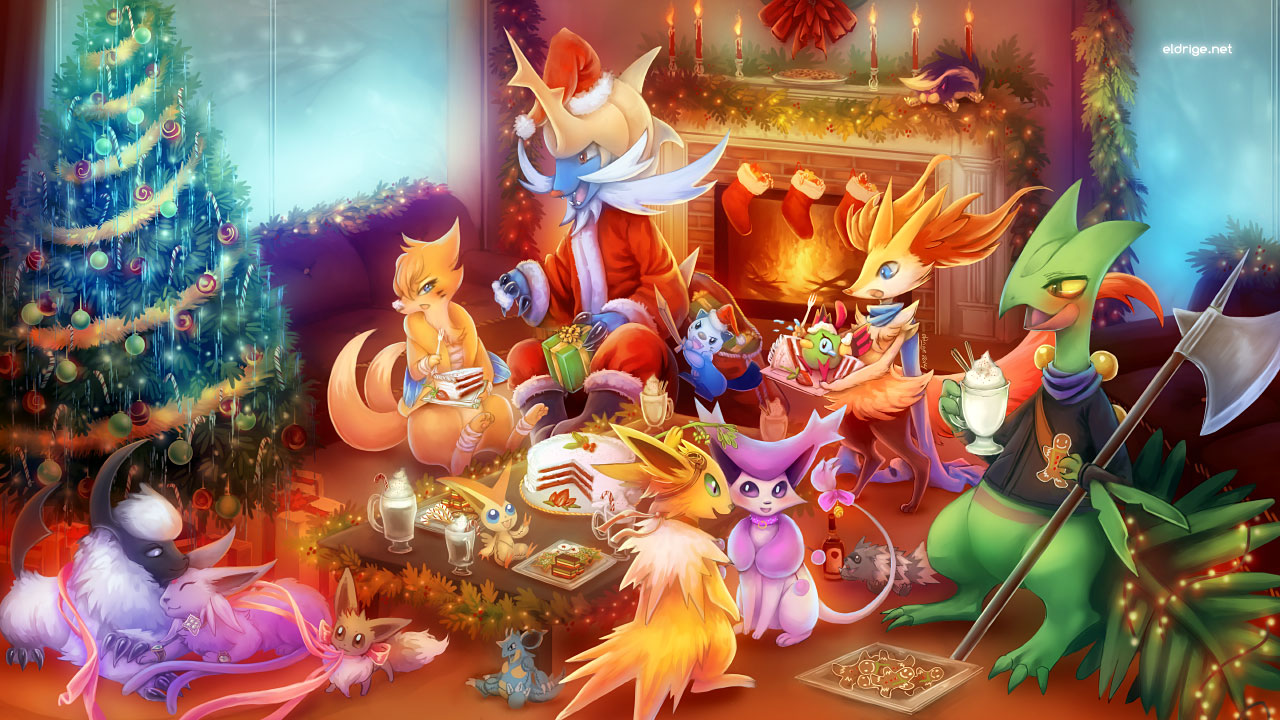 Pokemon Christmas.A Warm Pokemon Christmas 2014 Weasyl