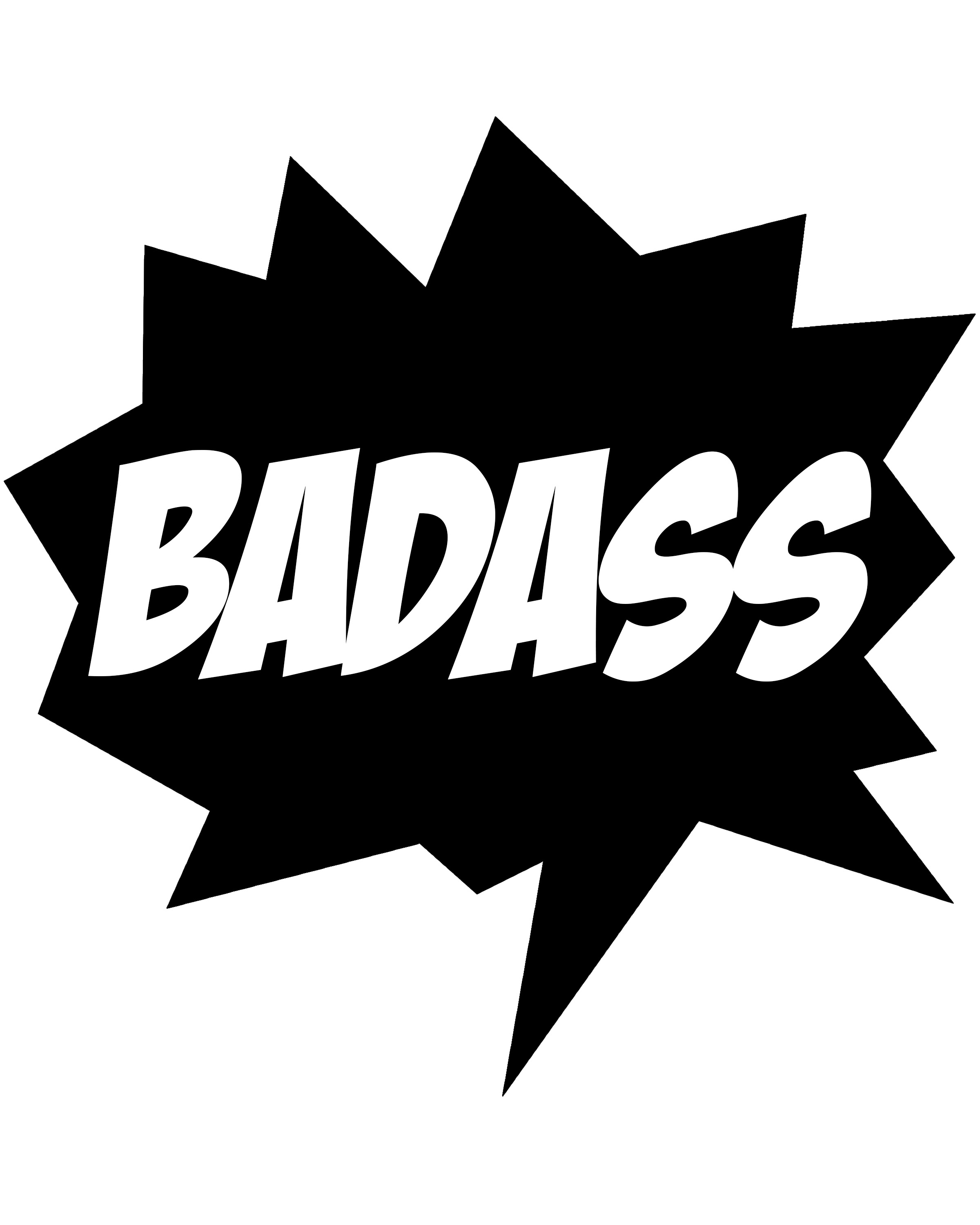 BADASS Free Printable Wall Art