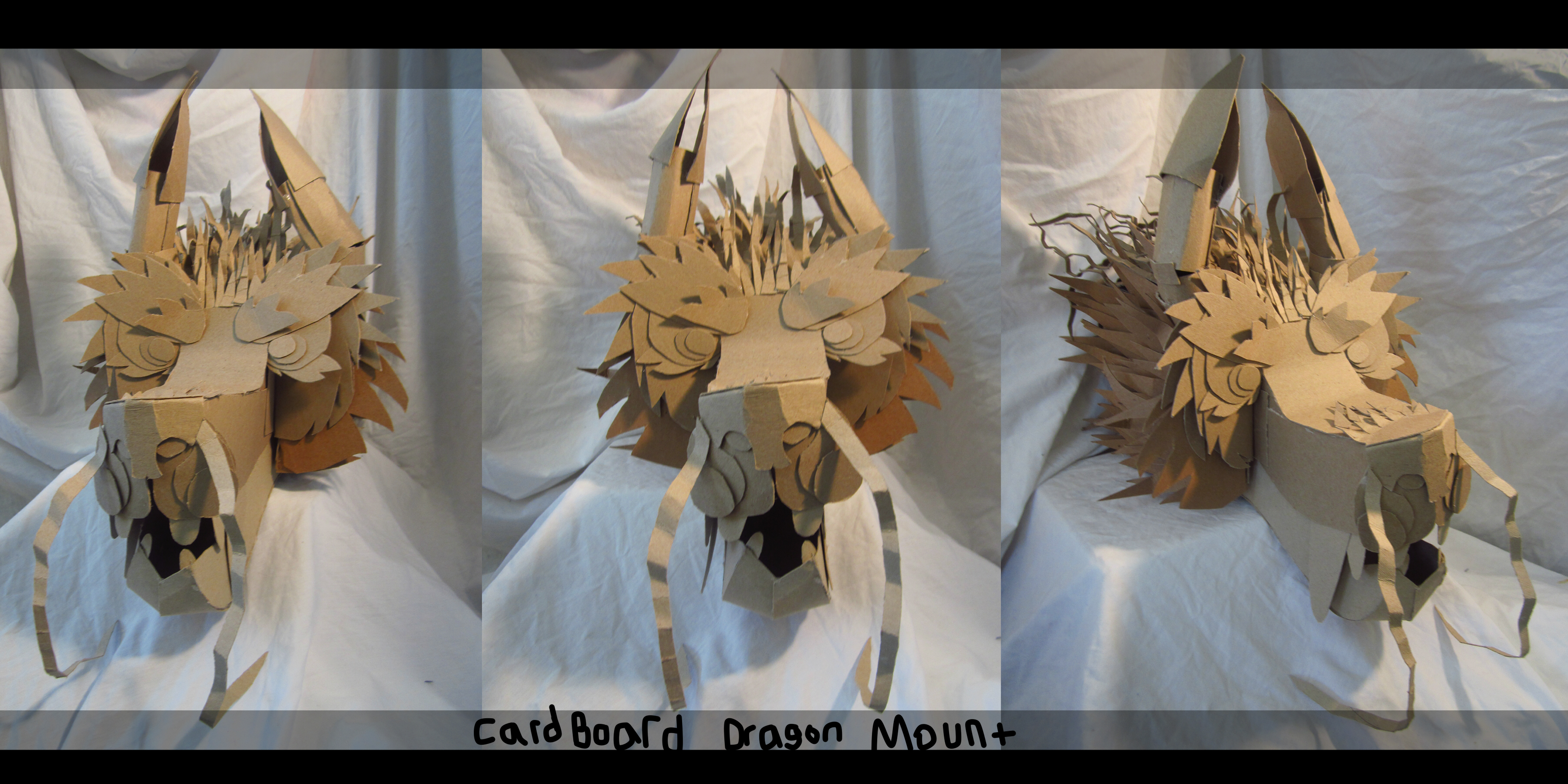 Cardboard Dragon Head Mount Weasyl