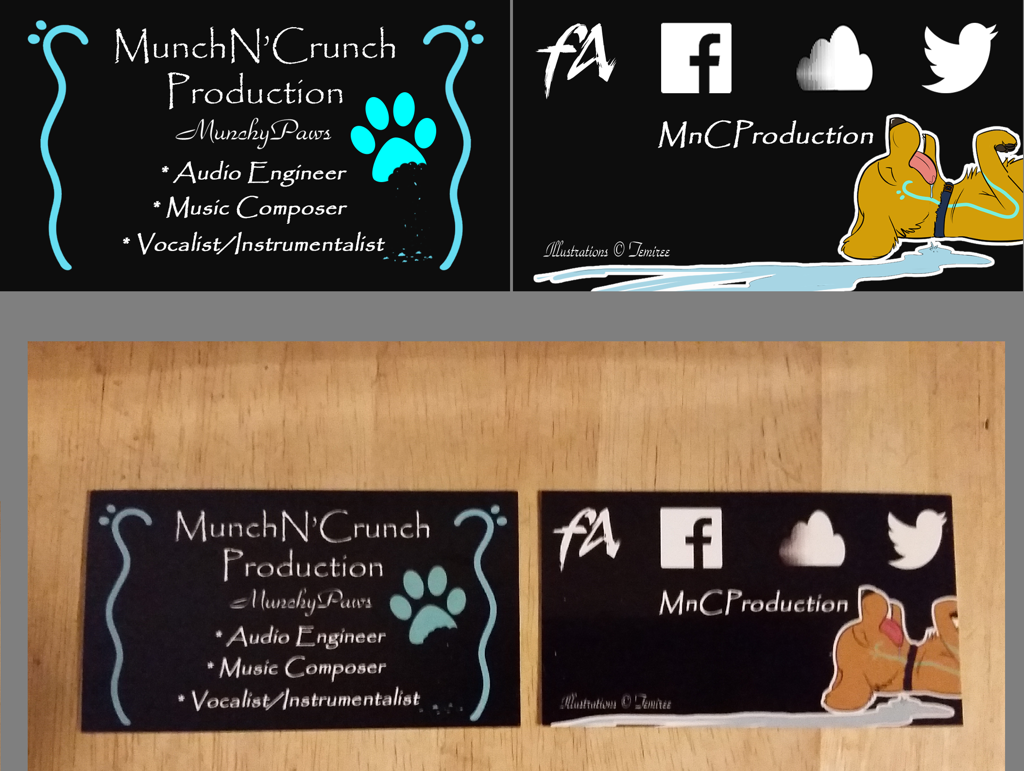 MunchN\'Crunch\' Production - Business Cards — Weasyl