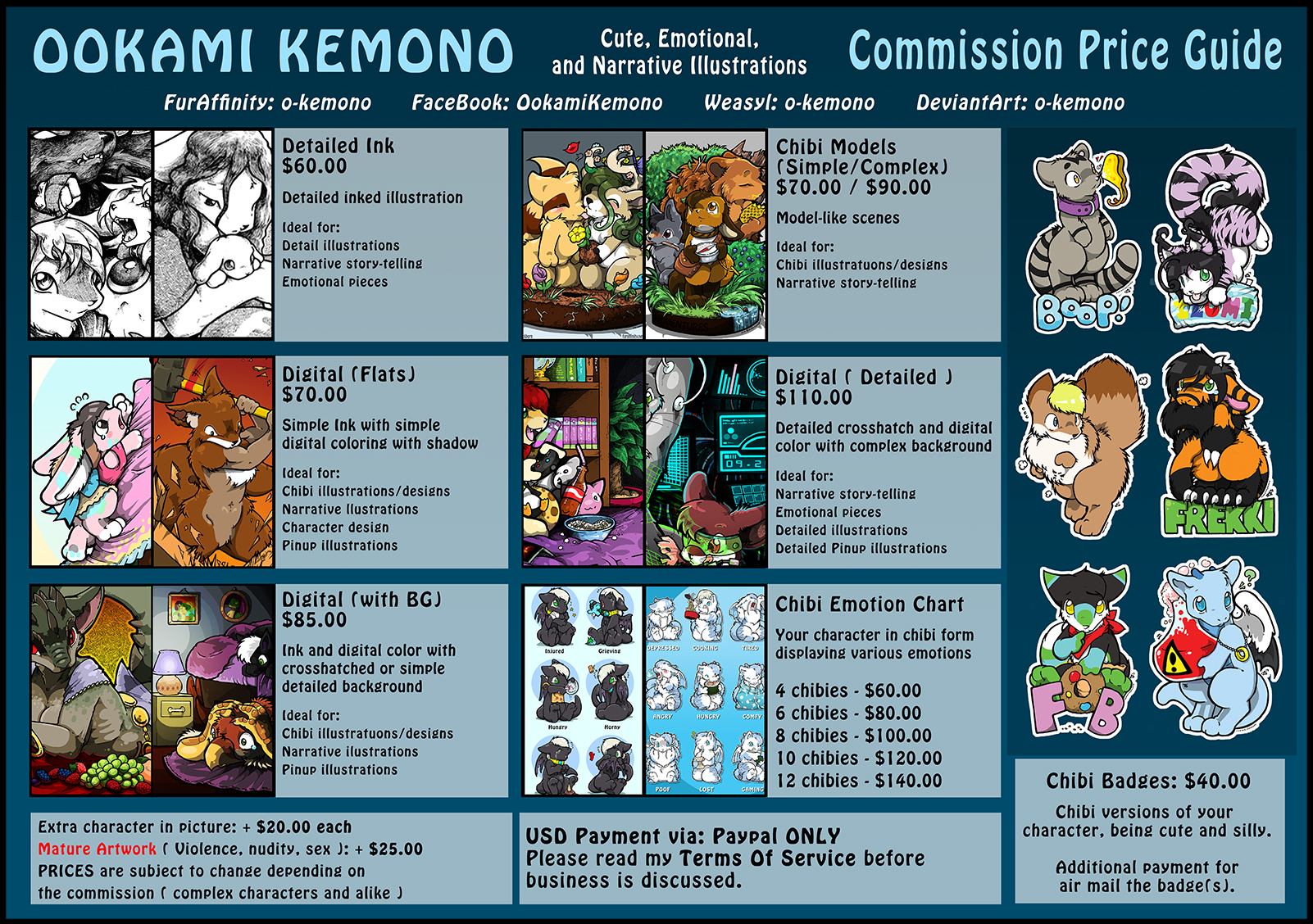 2015 Commission Price Guide — Weasyl