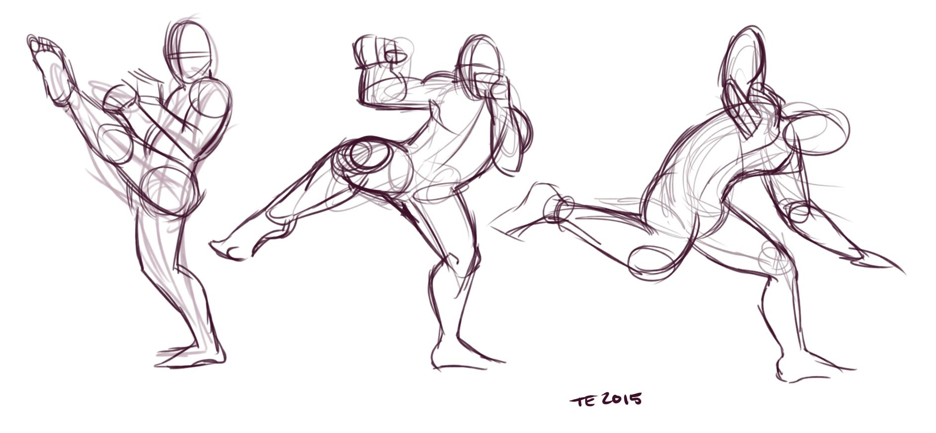 Martial Art Poses Weasyl
