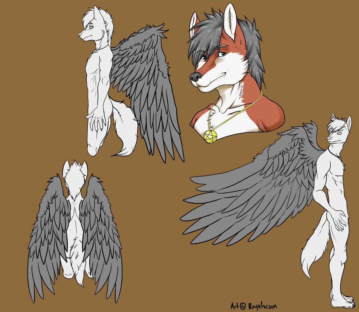 Commission reference sketch with wings