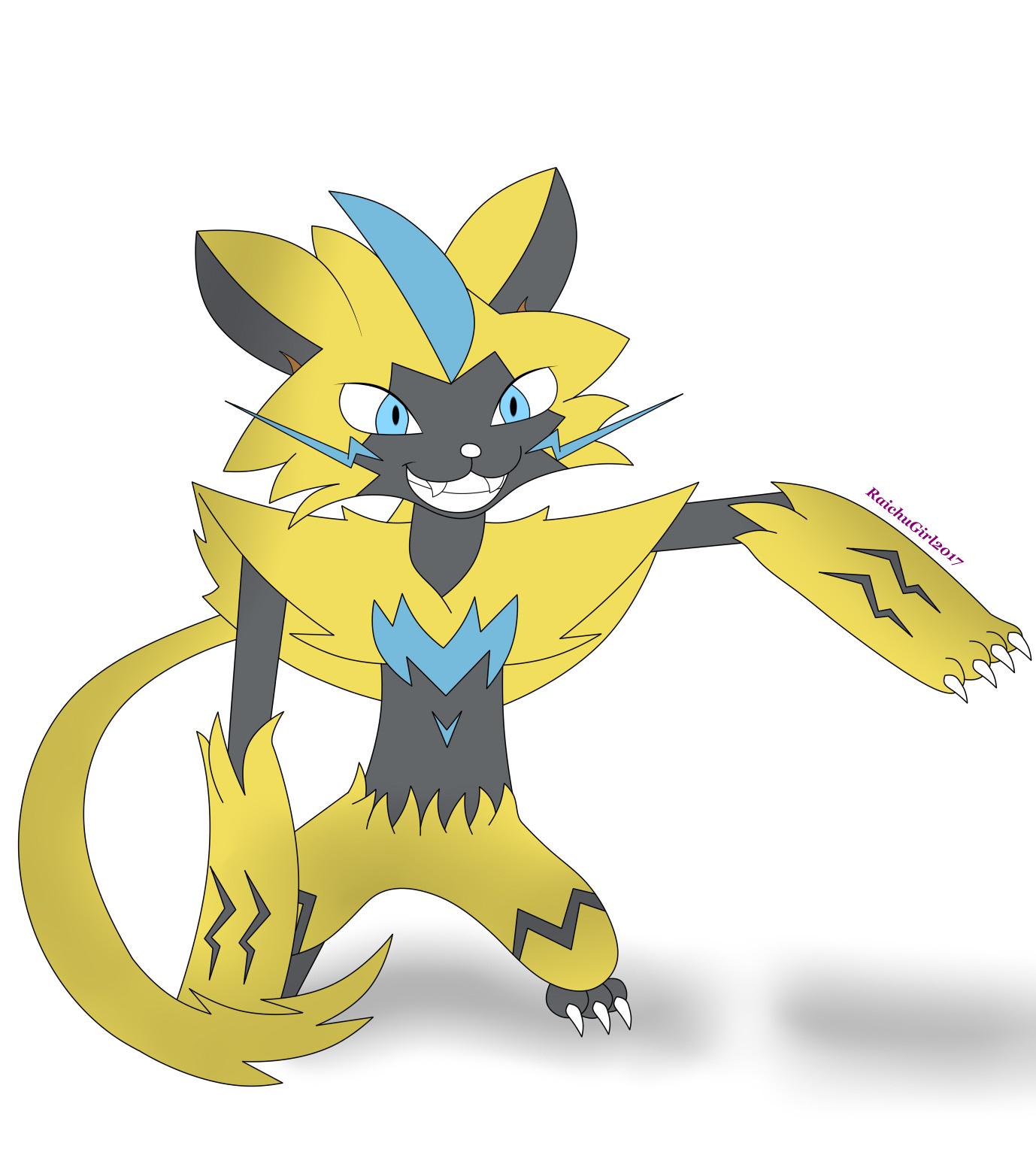 52 Easy Tutorial How To Draw Pokemon Zeraora 2019