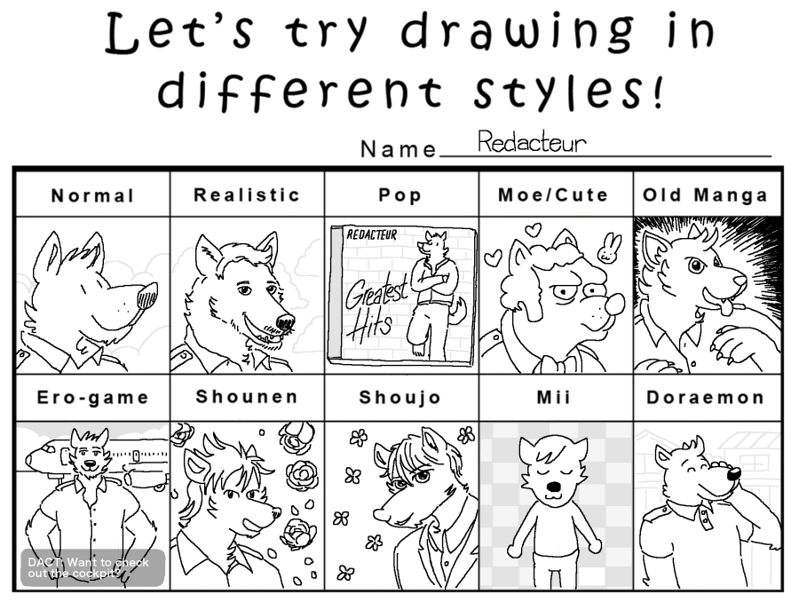 Try On Different Hair Styles: Let's Try Drawing In Different Styles