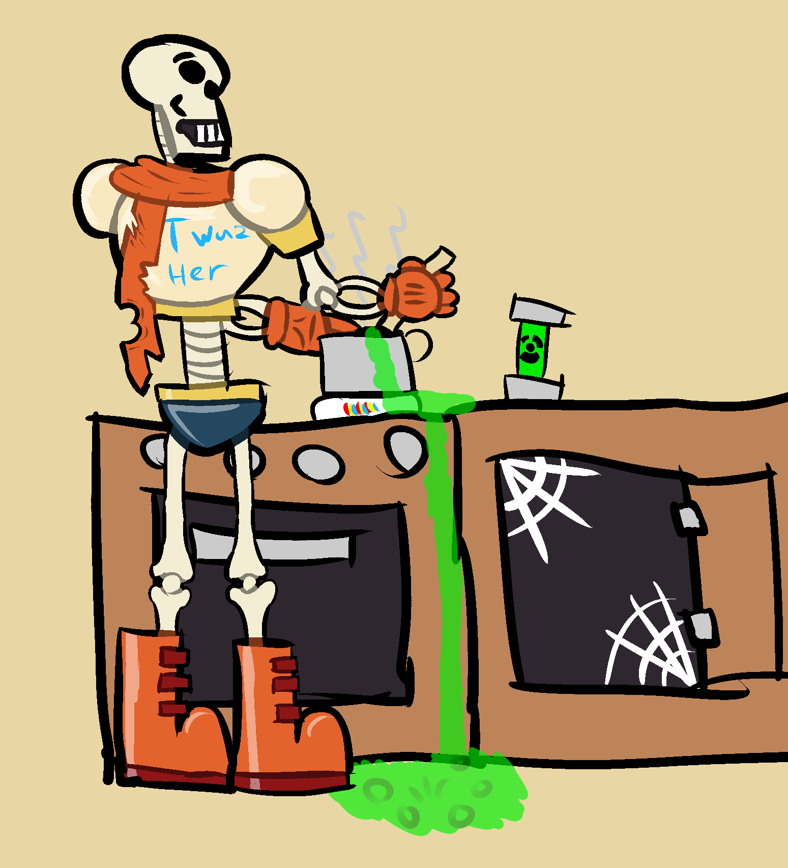 UNDERTALE] Papyrus makes Atomic Spaghetti Soup! — Weasyl