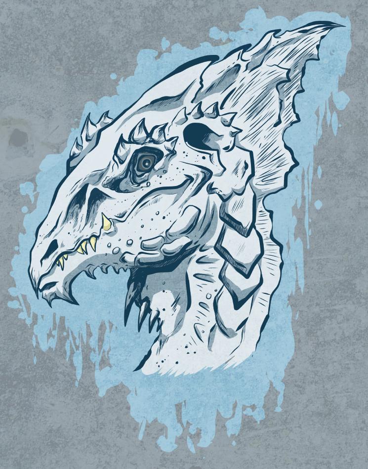 Dnd White Dragon: White Dragon- DnD Bust