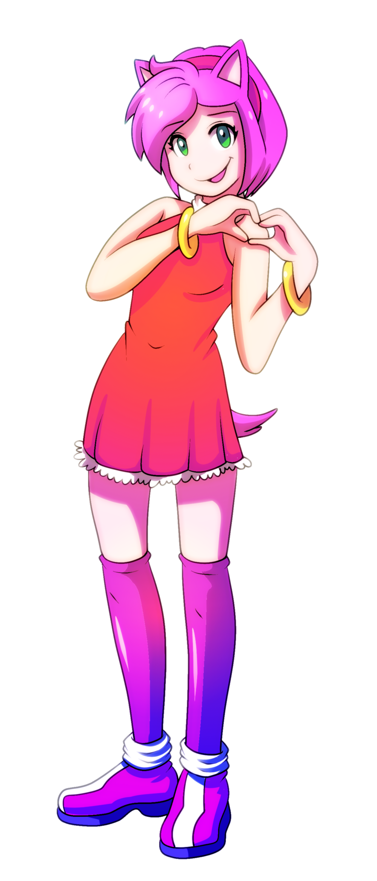 Amy Rose the Hedgehog Gijinka — Weasyl