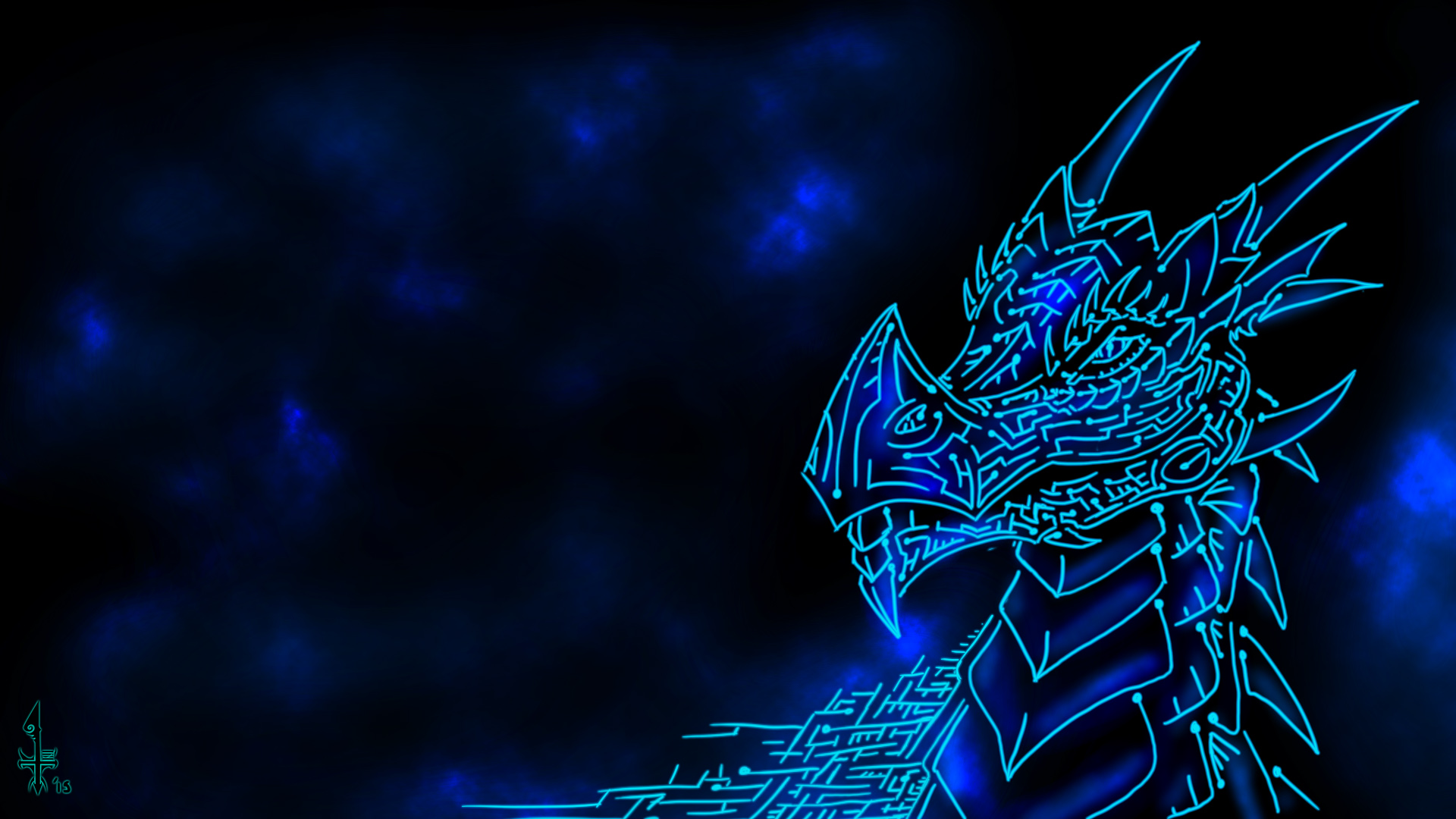cyber tribal dragon wallpaper thing the sequel � weasyl