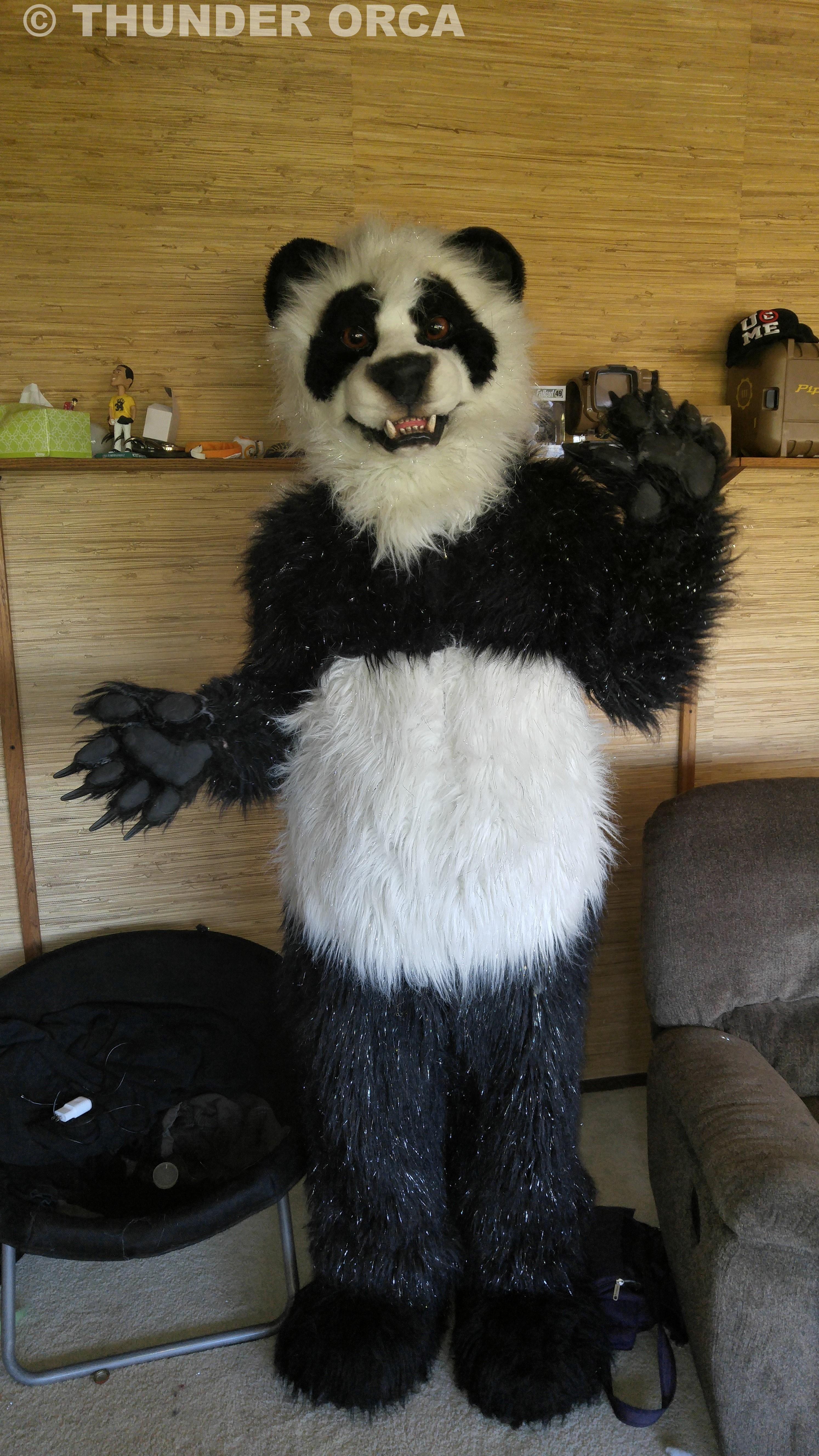 Fursuit Panda my panda fursuit. ^_^ (part 6) — weasyl