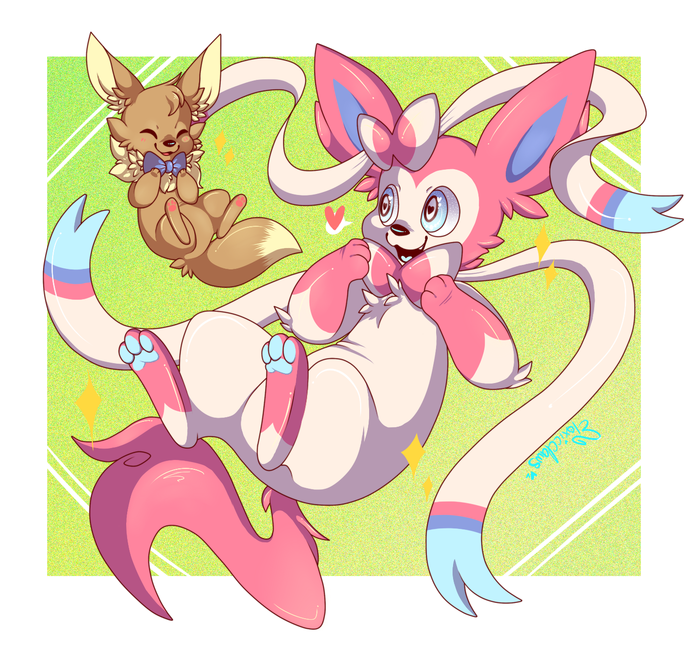 sylveon and eevee u2014 weasyl