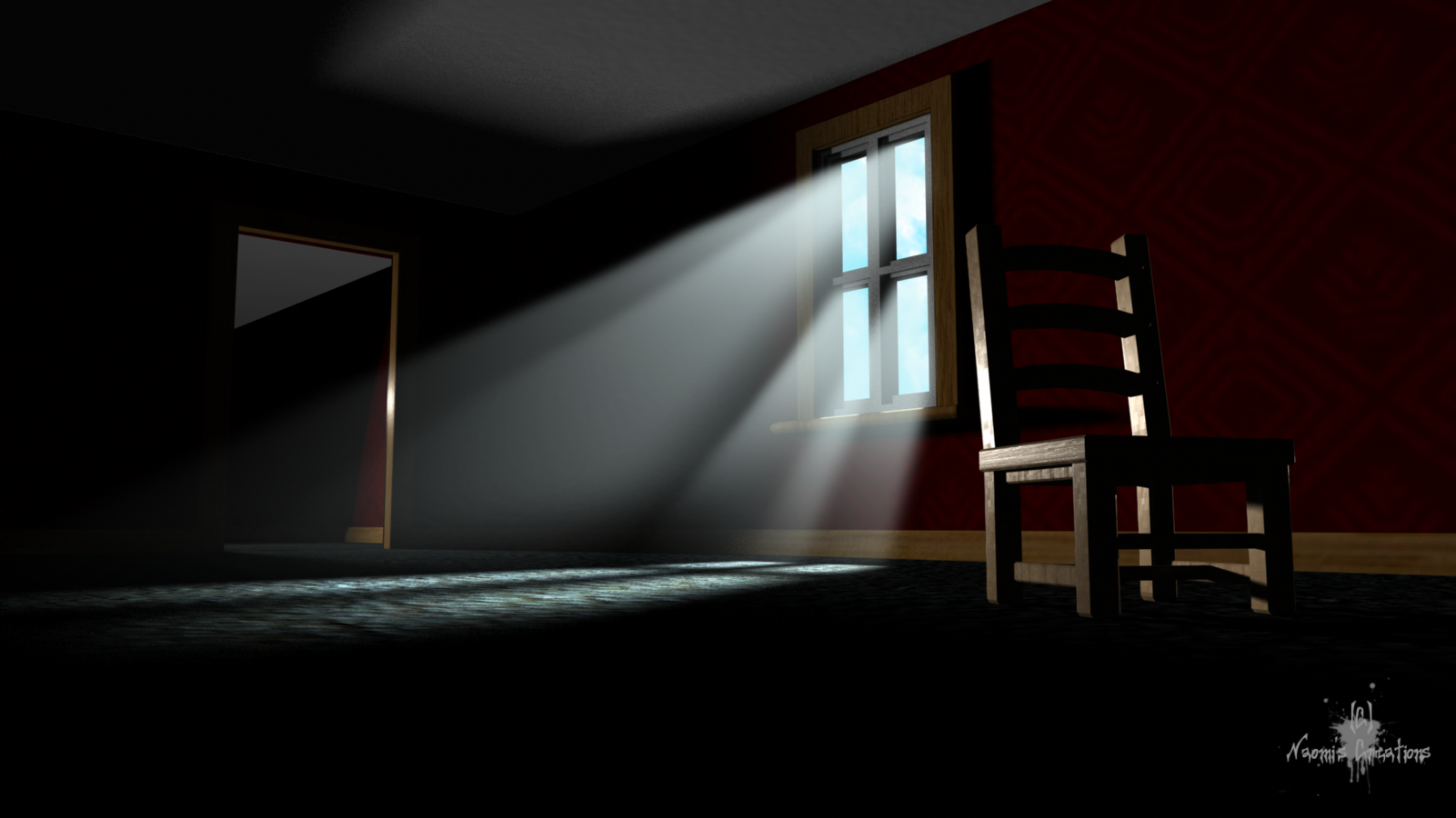 3D Empty Room With Chair