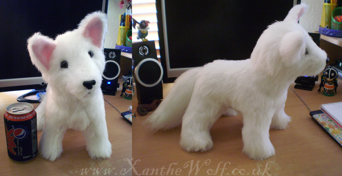 White Wolf Plush Weasyl