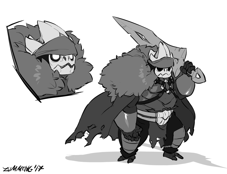 Oro the Nailmaster – Hollow Knight Fanart — Weasyl